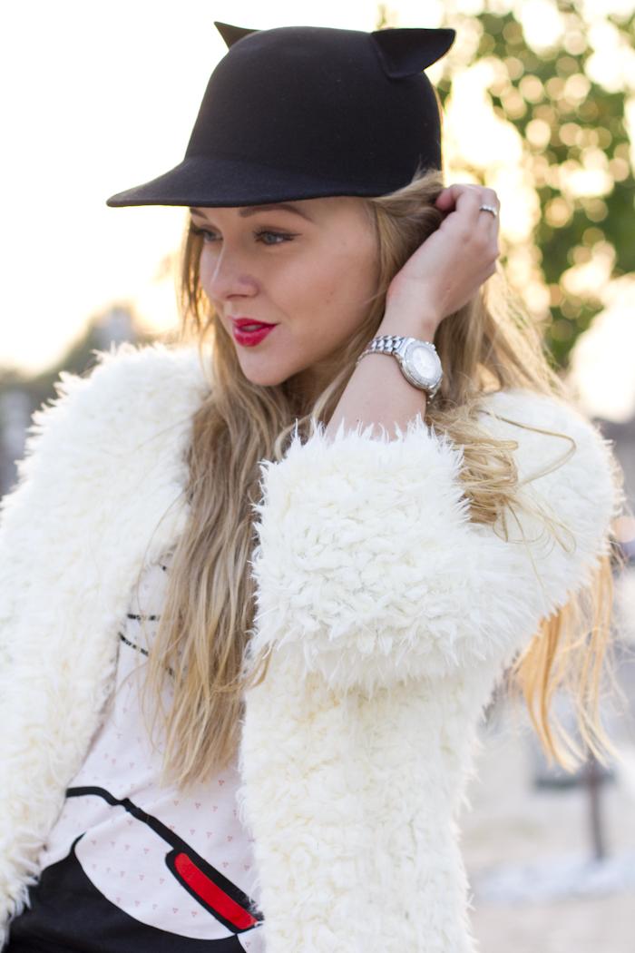 Cat Hat Fur Faux Outfit