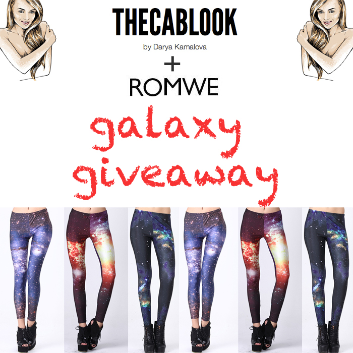 romwe thecablook darya kamalova galaxy leggings giveaway free