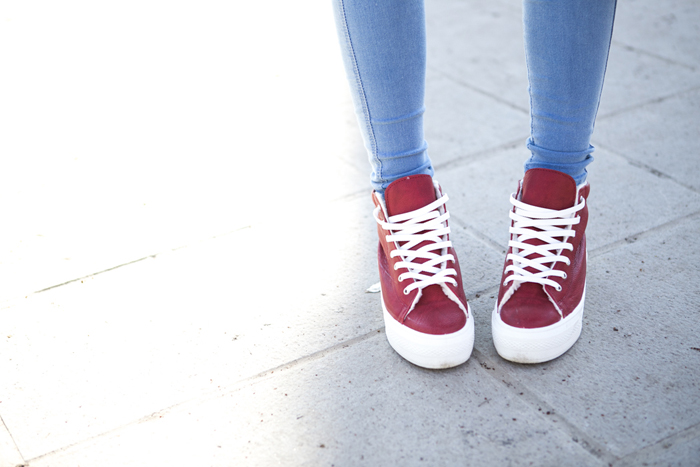 cablook fashion blog darya kamalova street fashion sneakers asos sheinside coat parka rebecca minkoff mac bag red oversized beanie animal sweatshirt romwe dr denim baby blue jeans-66