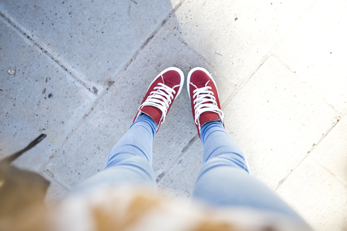 cablook fashion blog darya kamalova street fashion sneakers asos sheinside coat parka rebecca minkoff mac bag red oversized beanie animal sweatshirt romwe dr denim baby blue jeans-67