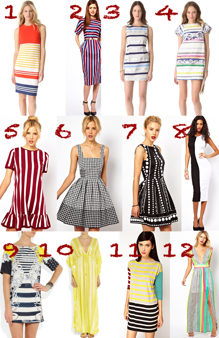 dress stripes thecablook darya kamalova collage fashion trends 2013 ss asos shopbop net a porter