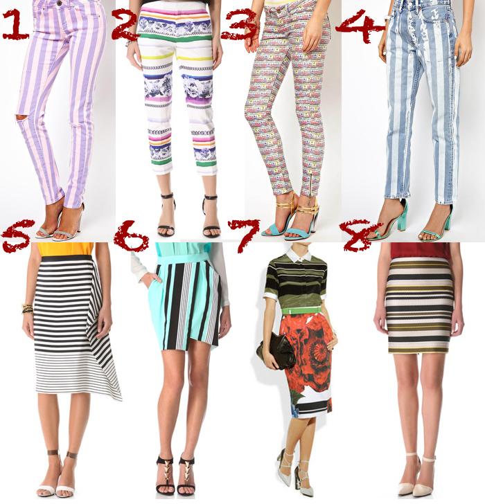 skirt pants jeans bottoms stripes thecablook darya kamalova collage fashion trends 2013 ss asos shopbop net a porter