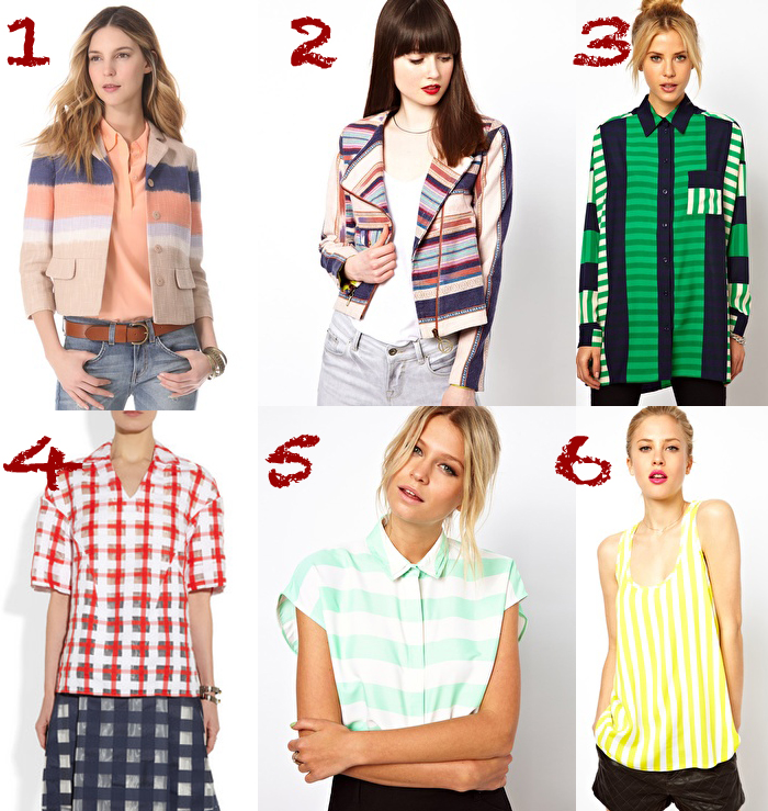 tops jackets stripes thecablook darya kamalova collage fashion trends 2013 ss asos shopbop net a porter