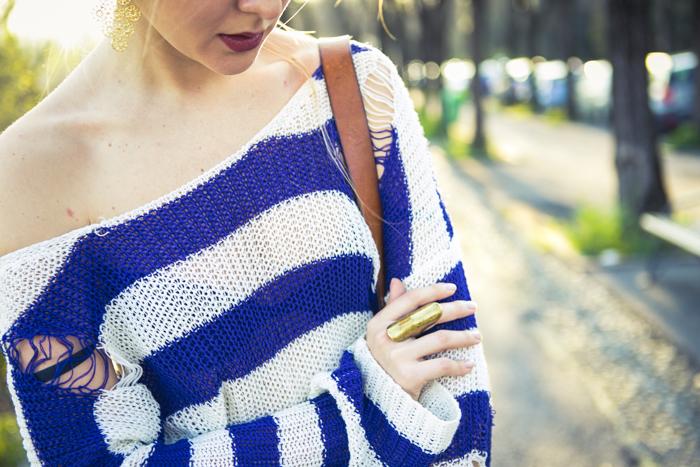 thecablook fashion blog darya kamalova street fashion asos cobalt blue electric culottes sheinside sweater hm camel hat ziba earings topshop black heels vintage leather bag vj style ring-49