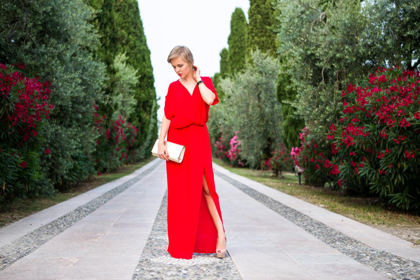 thecablook darya kamalova fashion blog street style mango red dress nando muzzi heels ziba earings ysl golden metallic clutch wedding villa-74