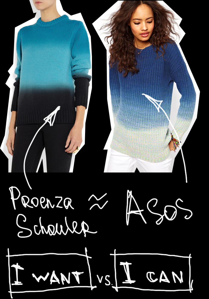 darya kamalova thecablook i want i can proenza schouler asos jumper dip dye ombre collage fashion blog