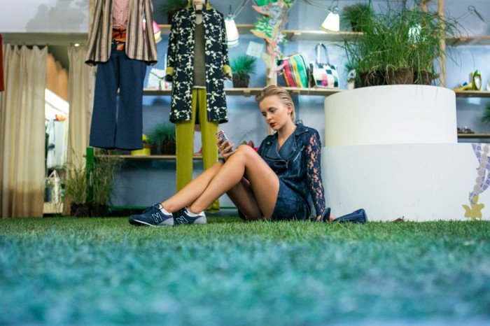 darya kamalova thecablook com asos lace biker dress phillip lim 3 1 navy bag new balance trainers star necklace atos lombardini milan fashion week 2014 ss paula cademartori alberto moretti ballin iceberg show-162