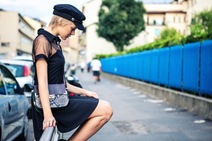 darya kamalova thecablook com fashion blog street style blogger alpinestars event 50 aniversary milan asds denice focil as by df chicwich dress hm hat paris collection rebecca minkoff bag-28 копия