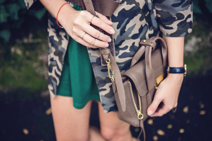 darya kamalova thecablook fashion blog street style outfit ootd choies military jacket and other stories jewellery daniel wellington watches axparis dress ash camel booties 3 1 phillip lim mini pashli taupe bag guess sunglasses-11 копия