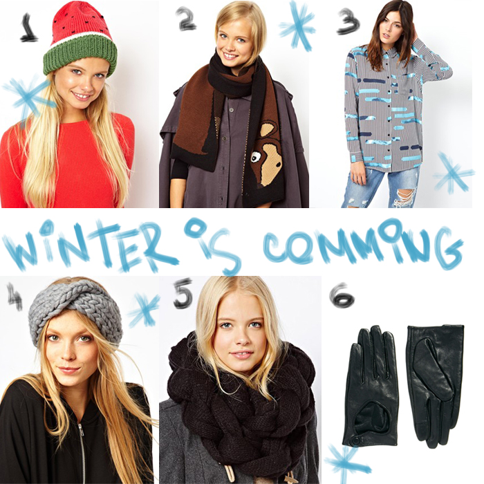 thecablook asos winter christmas scarf snoodgloves collage