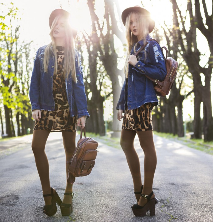 11thecablook-fashion-blog-darya-kamalova-street-fashion-sirel-london-leopard-dress-vj-style-camel-leather-backpack-hm-hat-topshop-wedges-romwe-denim-jacket-asos-tights_-5