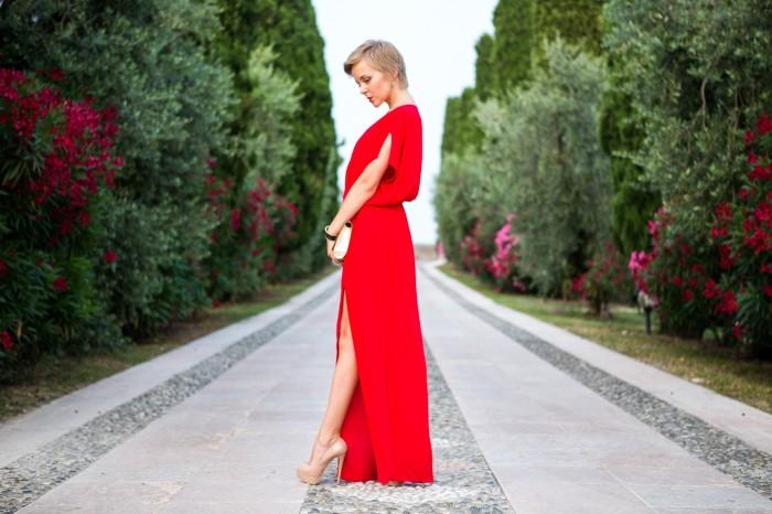 thecablook darya kamalova fashion blog street style mango red dress nando muzzi heels ziba earings ysl golden metallic clutch wedding villa-80